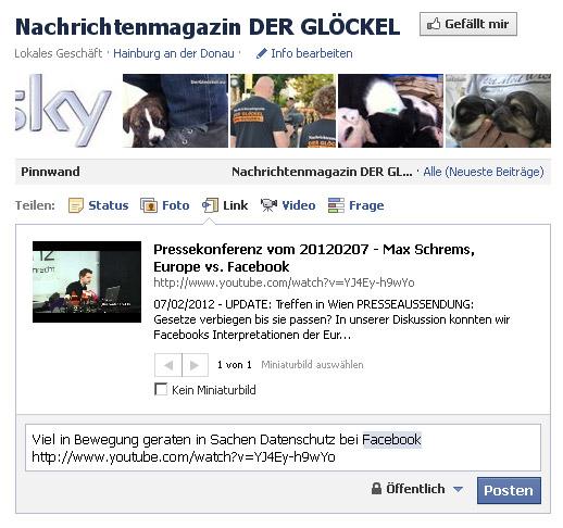 Zensur bei Facebook