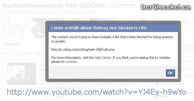 Facebook blockiert