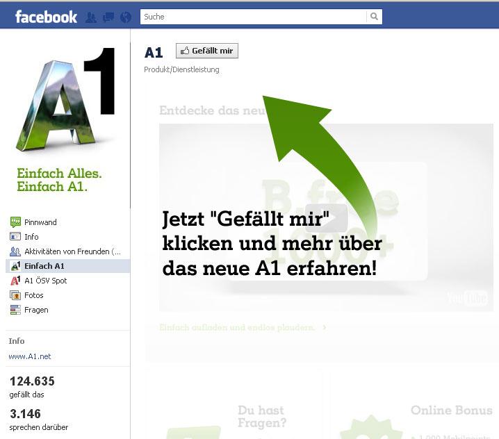 A1 Telekom Austria AG bei Facebook