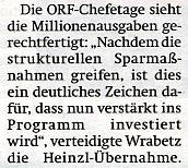 ORF-Chef Alexander WRABETZ in ÖSTERREICH am 4.9.09