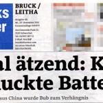 Aufreisser von Bezirksblätter Ausgabe Bruck an der Leitha