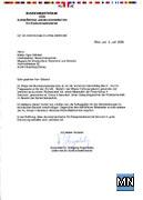 Faksimile der Stellungnahme des EU-Exekutivsekretariats