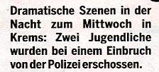 Falschmeldung in Tageszeitung ÖSTERREICH