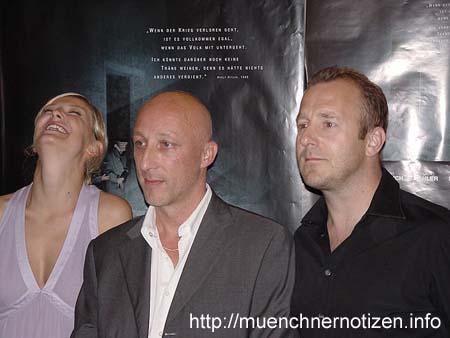 Alexandra Maria Lara, Oliver Hirschbiegel und Heino Ferch
