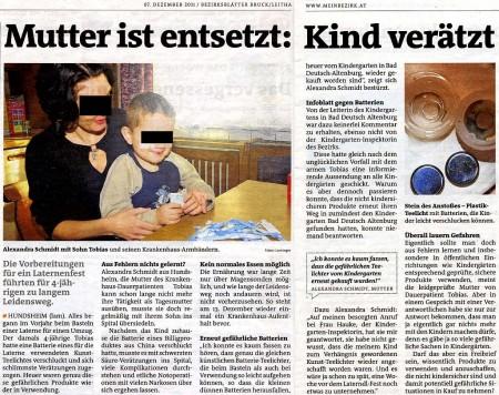 Medienkritik an Bezirksblätter - der Originalartikel