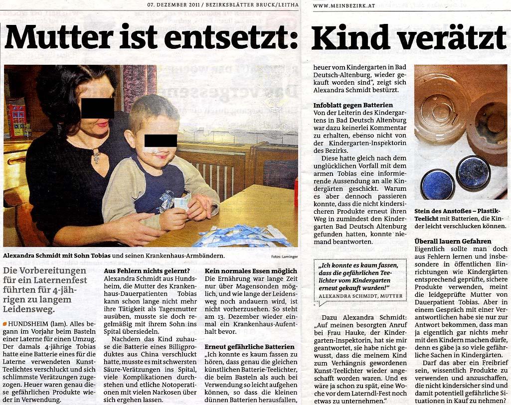 Reportage Zeitung
