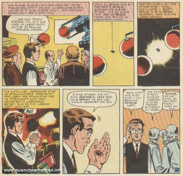 © Marvel Comic | Peter Parker wird von der Spinne gebissen