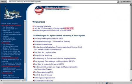 Auch im Jahre 2003 gibt es noch US-Botschafter in der DDR (!)
