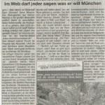 Als Reaktion auf unseren Artikel veröffentlichte das Münchner Wocheblatt diesen Beitrag - zur Vergrößerung anklicken