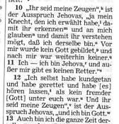 Faksimile aus der Bibel der Zeugen Jehovas