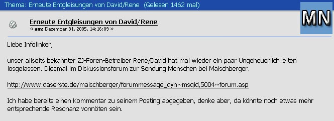 Screenshot aus dem Forum InfoLink-net.de