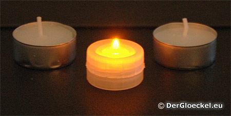 Aus Sicherheitsgründen wurden LED-Teelichter eingeführt - Unfallzahlen sind darauf lt BMASK zurückgegangen