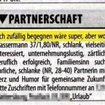 Bezirksblatt - lustiges Inserat