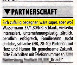 Partnersuche inserate österreich