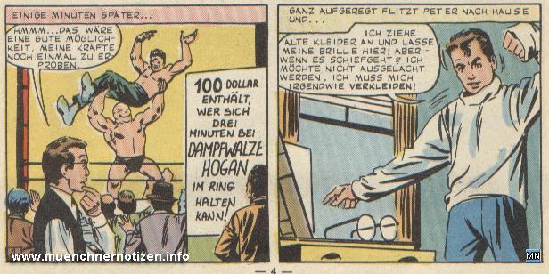 © Marvel Comic | Spider-Man bei seiner Entscheidung am Wrestligkampf teilzunehmen
