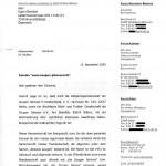 Brief Zeugen Jehovas von Moritz Pikl Winterlich - Seite 1